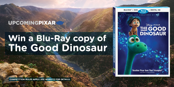 Win a Blu-Ray copy of The Good Dinosaur